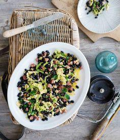 Black beans & cabbage - a Basque recipe