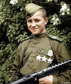 https://flic.kr/p/7HJPoq | Young Soviet soldier 1945 ww2 | Recolored using Photoshop CS4