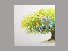 Peinture à l'huile AULNE 1 - 100*100cm