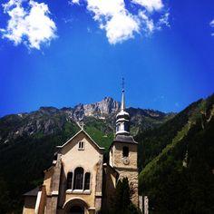 Eglise de Chamonix avec son clocher à bulble