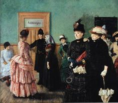 Albertine at the Police Doctors Waiting Room by Christian Krohg