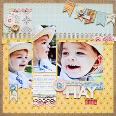 Hay Ride layout by Jess Mutty for Right at Home Scrapbooking.