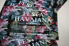 Convite Festa Tropical Convite festa havaiana! Convite Floral, 15 anos para…