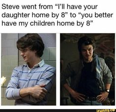 I will never get over Steve Harrington character development memes