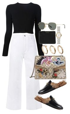 """""""Untitled #3935"""" by lily-tubman ❤ liked on Polyvore featuring Proenza Schouler, STELLA McCARTNEY, Gucci, ASOS, Comme des Garçons, Burberry and Ray-Ban"""