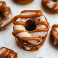 Mini Caramel Pumpkin Donuts