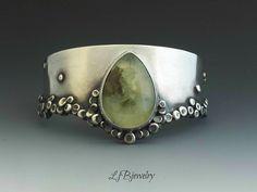Prehnite cuff by LJB Jewelry                                                                                                                                                     More