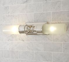 Sussex Double Tube Sconce: over vanity lighting Bathroom Sconces, Bathroom Light Fixtures, Wall Sconces, Bathroom Lighting, Wall Lamps, Bathrooms, Master Bathroom, Bathroom Ideas, Bathroom Wall