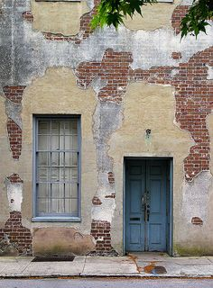 Door, Window and Bricks  Charleston, South Carolina