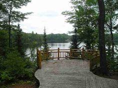 North woods deck.