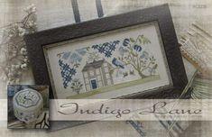 Gervais, Dmc, Needle And Thread, Indigo, Frame, Design, Cross Stitch, Embroidery, Weaving