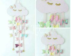 Arco de pelo madera nube, nube soñoliento, rosa pastel, pelo arco sostenedor, sueño pestañas, accesorios del pelo, arcos del pelo, dormitorio de niñas