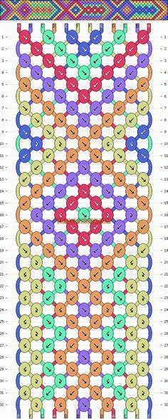 Normal Friendship Bracelet Pattern #2492 - BraceletBook.com