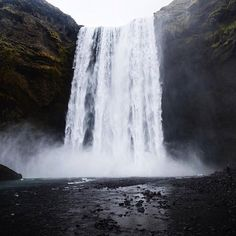 'The waterfalls of are remarkable but Skogafoss has to be my favourite…. – All Pictures Gullfoss Waterfall, Iceland Travel, Reykjavik Iceland, Thingvellir National Park, Amazing Street Art, Whale Watching, Filming Locations, World Heritage Sites, Nice View