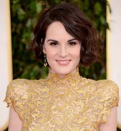 Michelle Dockery of Downton Abbey in Alexandre Vauthier Couture - 2013 Golden Globes Michelle Dockery, Alexandre Vauthier, Golden Globes 2013, Golden Globe Award, Downton Abbey, Jessica Chastain, Blake Lively, Smoky Eyes, Beauty Night