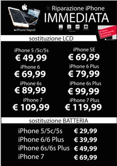 Riparazioni immediate su iPhone a Napoli centro info whatsapp 3314500800