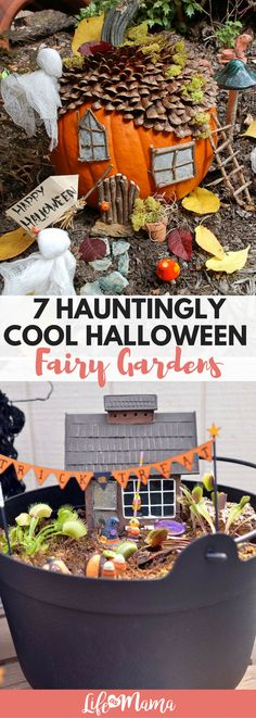7 Hauntingly Cool Halloween Fairy Gardens Since we're coming up on the end of summer and Fall decor is about to hit the stores, we. Halloween Fairy, Fall Halloween, Halloween Crafts, Halloween Decorations, Halloween 2018, Christmas Decorations, Fall Crafts, Diy And Crafts, Crafts For Kids