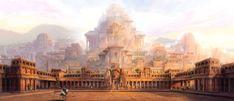 Mahishmathi Kingdom Palace exterior by Baahubali.deviantart.com on @DeviantArt