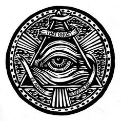 Cloud Mouth Secret Society Eye Pyramid Light Rays
