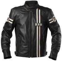 Blouson moto femme cuir ixon prima blanc noir