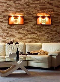 Architectural Stone Interior Lifestyle Gallery: Our Interior Stone Cladding lets you transform your home or office into a comfortable, contemporary, designer space Stone Interior, Interior Design, Stone Cladding, Feature Walls, Home Office, Wall Lights, Contemporary, Architecture, House