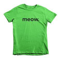 meow. kids t-shirt