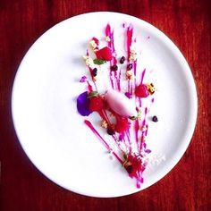 """""""Textures of raspberry"""" By @lucianaadewi  #DessertMasters"""