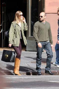 Jason Statham and girlfriend, Rosie Huntington-Whiteley, seen shopping in NYC.