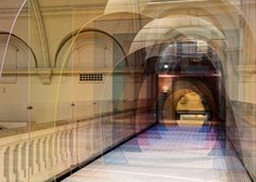 "London designers Laetitia de Allegri and Matteo Fogale installed a tinted tunnel at the V&A Museum for the London Design Festival. Entitled ""Mise-en-abyme"", the installation. Light Architecture, Interior Architecture, Interior Design, Johnson Tiles, V & A Museum, London Design Festival, London Museums, Victoria, The V&a"