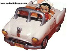 Betty Boop in Coke Car Cookie Jar