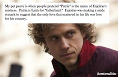 "The REAL explanation of Enjolras's ""mistress"" Patria. Educate thyselves. ;)"