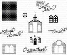 Petite Places: Church Mini Stamp Set (2969) (matching dies)