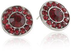 """1928 Jewelry """"Festive"""" Button Earrings - 1928, Button, Earrings., Festive, Jewelry http://designerjewelrygalleria.com/1928-jewelry/1928-earrings/1928-jewelry-festive-button-earrings/"""