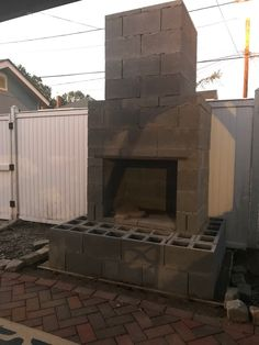 This is our amazing Phoenix design and you can get a DIY construction plan to build it in your backyard. Outdoor Fireplace Plans, Outside Fireplace, Outdoor Fireplace Designs, Backyard Fireplace, Backyard Plan, Fire Pit Backyard, Backyard Patio, Pergola Patio, Backyard Landscaping