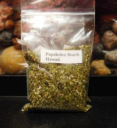 Sand Sample Papakolea Beach Hawaii Green Olivine Sand 30ml Beach Sand | eBay