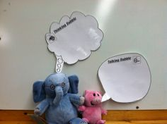 Thinking and talking bubbles - great for pragmatic language!