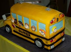 Yellow School Bus — Birthday Cakes cakepins.com