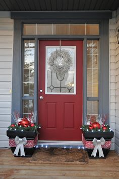 Christmas Decoration For Porch Decoration Noel, Christmas Front Doors,  Christmas Porch, Outdoor Christmas