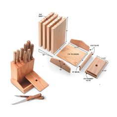 Easy-to-Build Knife Block and other kitchen storage ideas from Family Handyman
