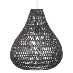 The Breeze open weave woven black pendant light offers modern lighting style in a unique pendant light configuration. White Wicker Furniture, Wicker Bedroom, Suspension Cable, Woven Shades, Black Pendant Light, Hanging Pendants, Light And Shadow, Light Table, Home
