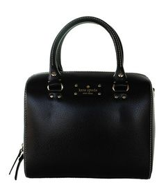 Another great find on #zulily! Black Wellesley Alessa Boston Tote by Kate Spade #zulilyfinds