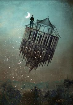 Floating , I take u with me on the road.  #CatrinWelz #bluemoon
