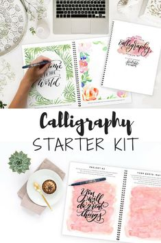 Definitely need this.. Calligraphy Starter Kit, learn Calligraphy kit how to calligraphy instruction book calligraphy pen no fuss calligraphy set #ad
