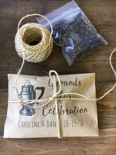 Coffee Favor Bags- Wedding Favors - Bridal Shower Coffee Favors- Coffee Bean Espresso Favors - Set of 25 printed paper bags Wedding Favour Drinks, Coffee Wedding Favors, Vintage Wedding Favors, Custom Wedding Favours, Wedding Favor Bags, Wedding Favors For Guests, Wedding Candy, Wedding Ideas, Wedding Gifts