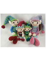 Elf Family Crochet Pattern - Electronic Download