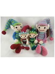 Elf Family Crochet Pattern - Electronic Download