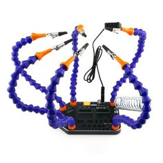Six Arm Soldering Integrated Base with Banana XT60 XT30 T Plug Hole and USB 5V Output RC Tool RC Toys Part