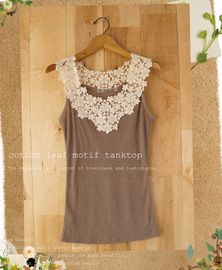 Add Lace to a Tank Top or Cami