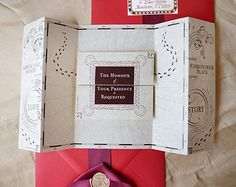 Romance Managed, No Story Version - Harry Potter Inspired Invitation - SAMPLE ONLY (Price is not full order per unit price, see description)