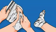 [VIDEO] Wrap Your Feet in Aluminum Foil and Wait for 1 Hour! What Happens Next Will Surprise You! – Health Tips and Beauty Sample Page Healthy Fruits, Get Healthy, 1000 Lifehacks, Natural Cures, Natural Health, Thyroid, Home Remedies, Health Tips, Health Foods